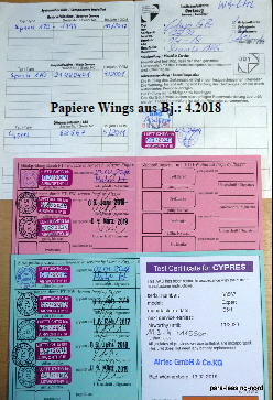 Papiere Wings aus Bj.: 4.2018